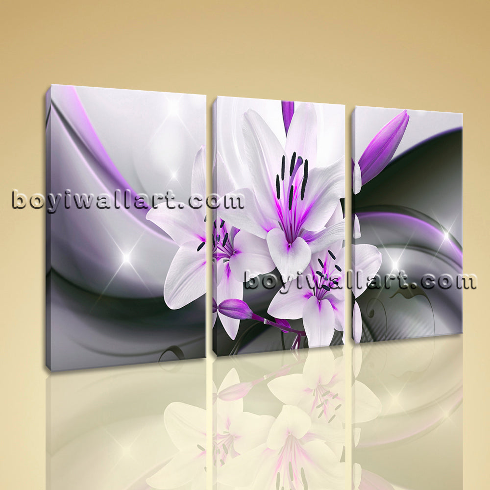 Large Abstract Flower Floral Hd Print Modern Canvas Art Bedroom 1 Panels