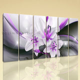 Large Abstract Flower Floral Wall Art Modern Oil Painting Living Room Print