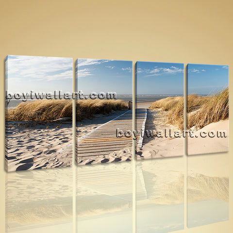 Large Landscape Beac Hbeach Wall Art Painting On Canvas Bedroom Print