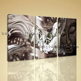 Large Feng Shui Buddha Painting Modern Home Decor Three Panels Canvas Print