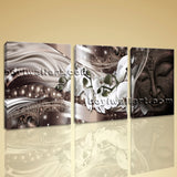 Large Feng Shui Buddha Print Modern Painting Living Room Triptych Panels Art