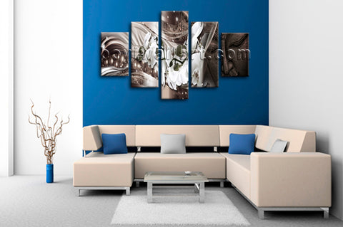 Large Feng Shui Buddha Print Modern Painting On Canvas Dining Room Giclee