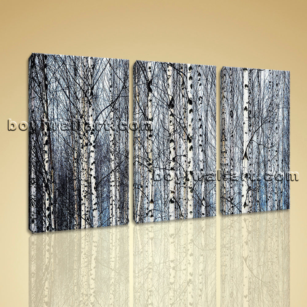 Large Nature Tree Forest Canvas Art Contemporary Wall Bedroom Three Pieces Print