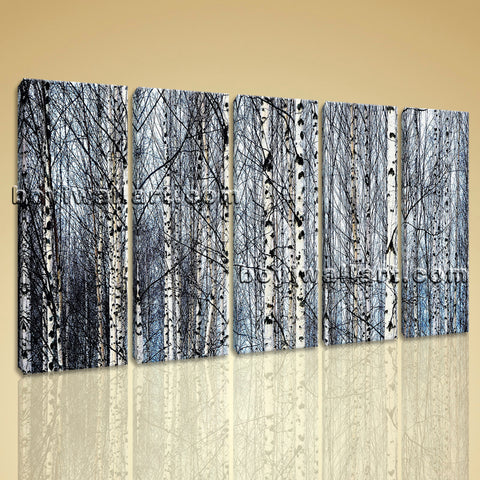 Large Nature Tree Forest Painting Contemporary Oil Dining Room Prints