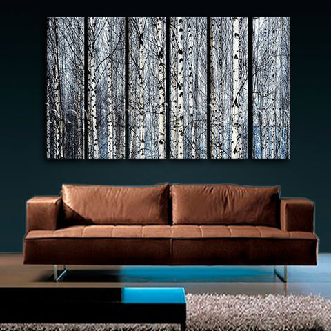 Large Nature Tree Forest Canvas Art Contemporary Living Room Print
