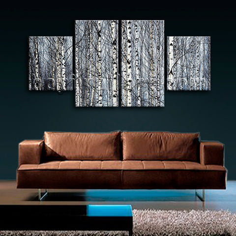 Large Nature Tree Forest Hd Print Contemporary Home Decor Dining Room Canvas