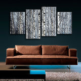 Large Nature Tree Forest Canvas Art Contemporary Home Decor 4 Panels Print