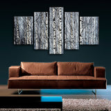 Extra Large Nature Tree Forest Wall Decor Contemporary 5 Panels Art Print