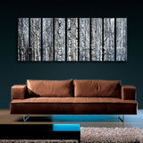 Huge Nature Tree Forest Wall Decor Home Living Room Nine Panels Canvas Print