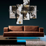 Large Modern Abstract World Map Canvas Art Wall Bedroom Tetraptych Panels Print
