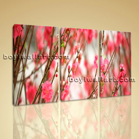 Large Sakura Chinese Cherry Tree Pink Flower Bloom Floral Painting Decor Print