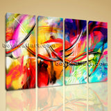 Large Abstract Paintings Wall Art Contemporary Living Room Four Pieces Prints
