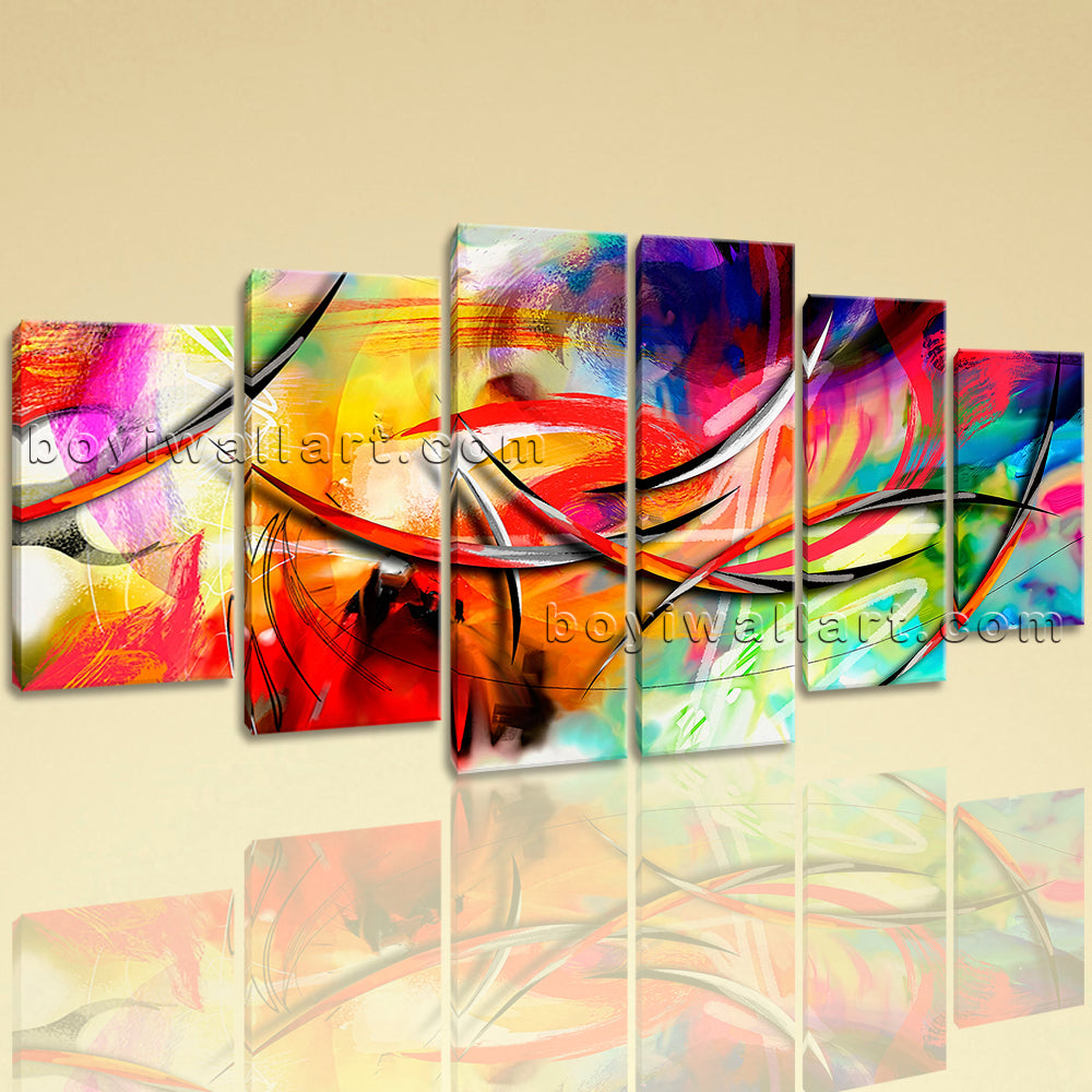 Extra Large Abstract Paintings Wall Art Contemporary Painting Dining Room Print