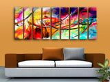Huge Abstract Paintings Painting Contemporary Oil Living Room Nine Pieces Print