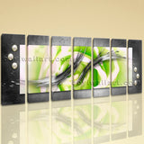 Extra Large Modern Abstract Painting Wall Art Heptaptych Pieces Canvas Print