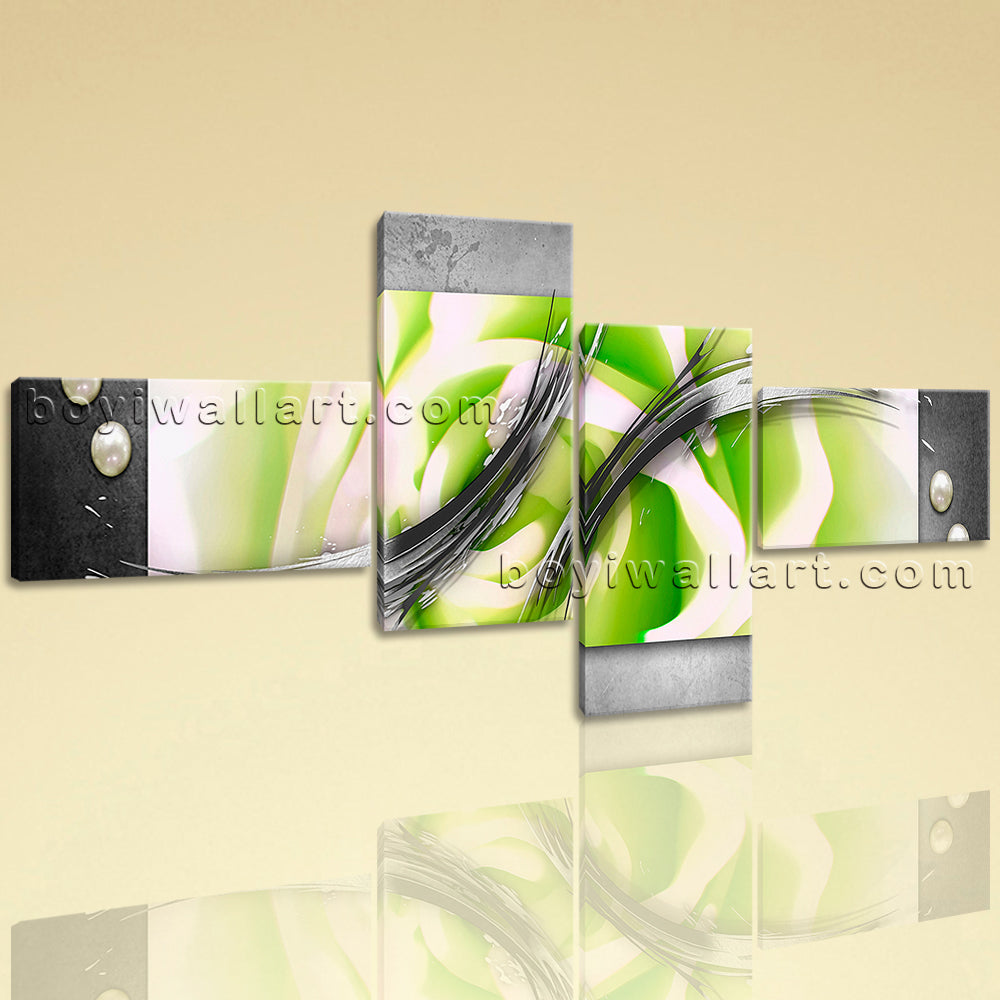 Extra Large Modern Abstract Painting Picture Wall Decor Four Panels Prints