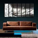 Extra Large Modern Abstract Wall Art Floral Canvas Painting Print