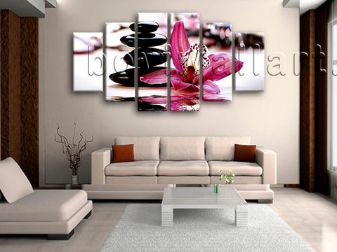 Extra Large Feng Shui Relaxing Floral Wall Decor Modern Painting Print