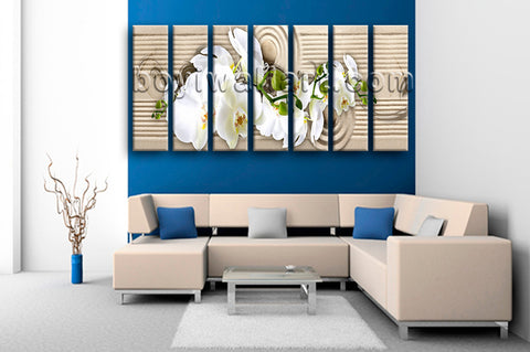 Extra Large Feng Shui Abstract Wall Art Floral Hd Print Modern Decor Giclee