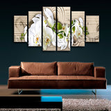 Extra Large Feng Shui Abstract Wall Art Floral Canvas Modern Home Decor Print