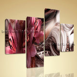 Large Modern Abstract Wall Art Floral Canvas Bedroom Four Pieces Giclee Prints