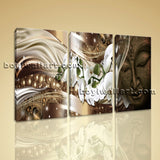 Large Feng Shui Buddha Print Modern Painting On Canvas Bedroom Triptych Panels