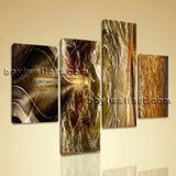 Large Modern Abstract Wall Art Painting Bedroom Tetraptych Panels Print