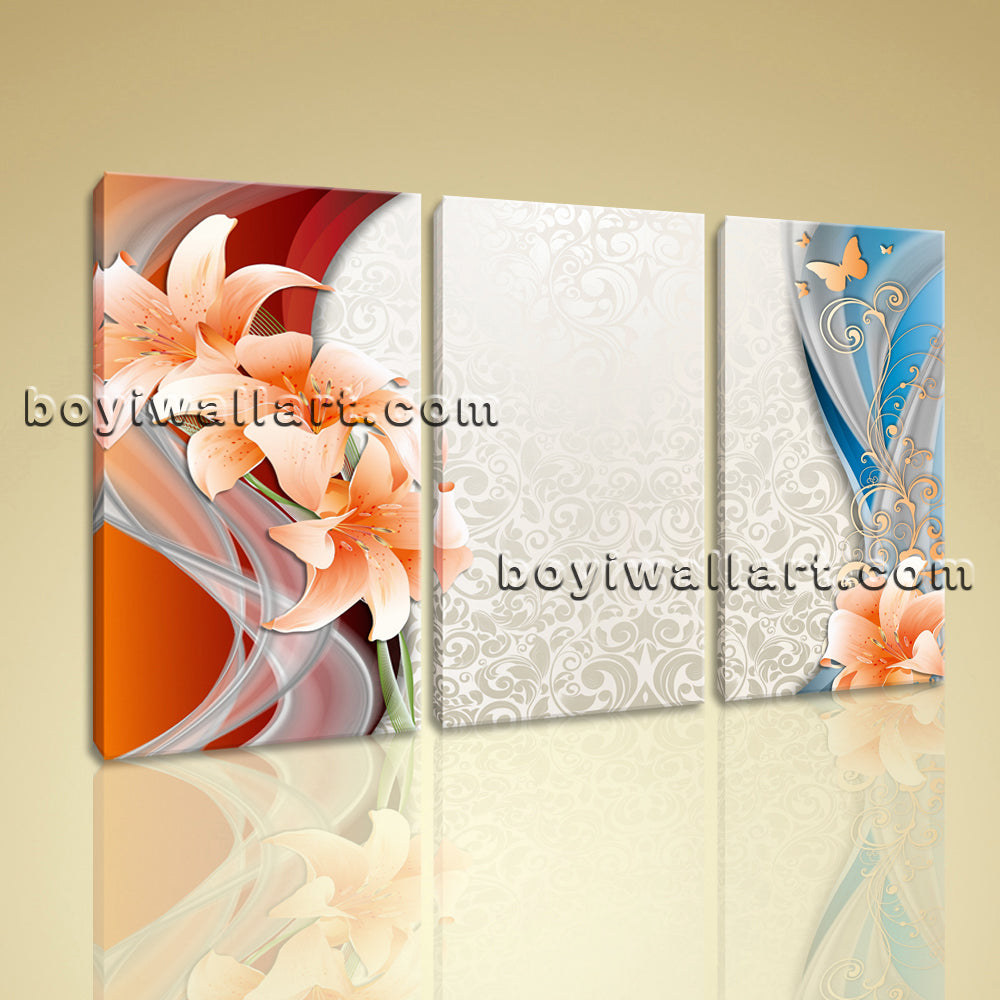 Large Modern Abstract Wall Art Canvas Decor Bedroom Triptych Pieces Print