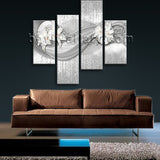 Large Modern Abstract Wall Art Picture Painting Canvas Tetraptych Panels Print