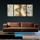 Large Modern Abstract Wall Art Painting Bedroom 4 Pieces Prints