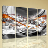 Large Modern Abstract Wall Art Decor Painting Living Room 4 Panels Print