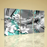 Large Modern Abstract Wall Art Decor Bedroom Three Panels Giclee Prints