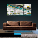 Large Modern Abstract Wall Art Painting Living Room Triptych Pieces Prints