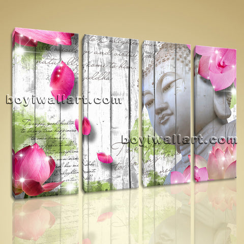Large Feng Shui Buddha Print Contemporary Art Painting Living Room Giclee