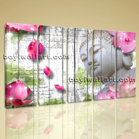 Large Feng Shui Buddha Wall Art Contemporary Painting Canvas Dining Room Print