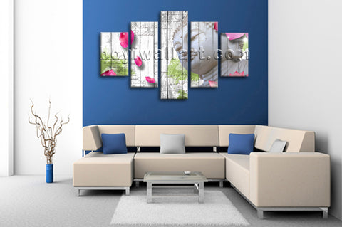 Large Feng Shui Buddha Wall Art Contemporary Painting Dining Room Print