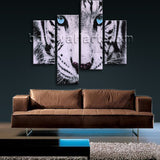 Large Tiger Painting Hd Print Photography Wall Decor Bedroom Giclee