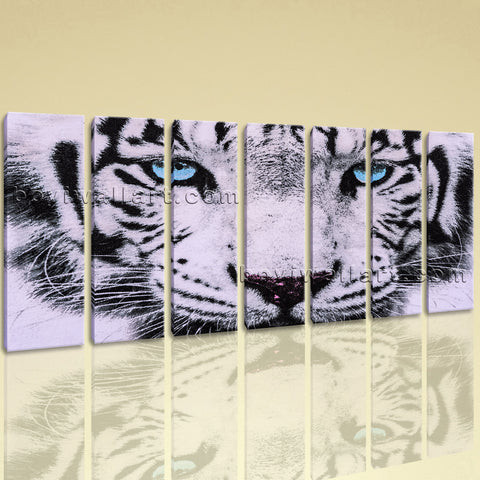 Extra Large Tiger Painting Hd Print Photography Living Room Seven Pieces Prints