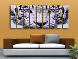 Huge Tiger Painting Picture Photography On Canvas Living Room Nine Panels Prints