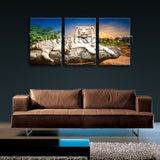 Large White Tiger Wall Art Canvas Home Decor Living Room 1 Panels Print