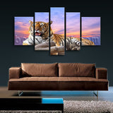 Extra Large Tiger Wall Art Print Photography Home Decor Living Room Five Pieces