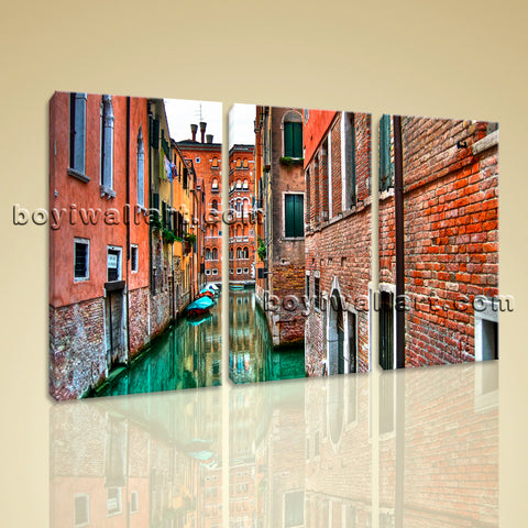 Large Venice Shore Canvas Art Photography Painting Bedroom 1 Pieces Prints