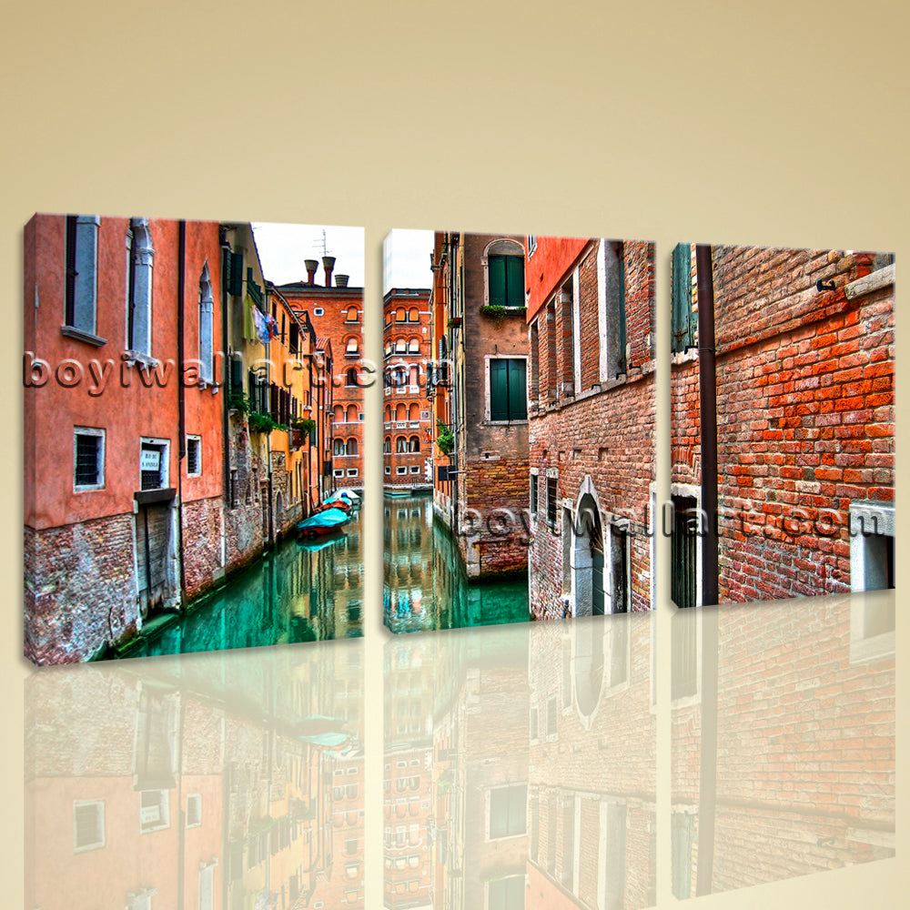 Large Venice Shore Canvas Art Painting On Living Room 1 Pieces Prints
