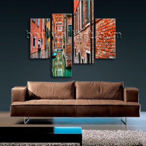 Large Venice Shore Hd Print Photography Wall Art Bedroom Four Pieces Prints