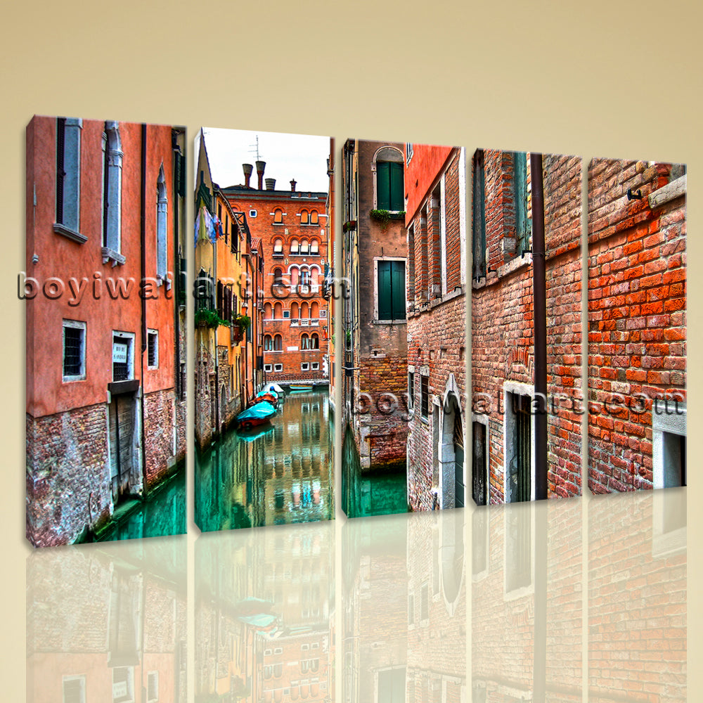 Large Venice Shore Print Home Decor Dining Room Pentaptych Pieces Prints