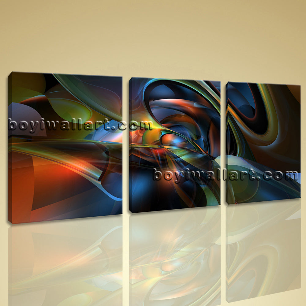 Large Modern Abstract 3D Wall Art Print Contemporary Painting 1 Pieces