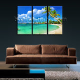Large Tropical Beac Hbeach Wall Decor Photography Home Bedroom 1 Panels Prints