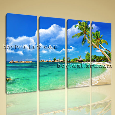 Large Tropical Beac Hbeach Canvas Art Photography Oil Painting Living Room Print