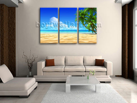 Large Tropical Beac Hpalm Tree Picture Home Decor Bedroom 1 Panels Prints