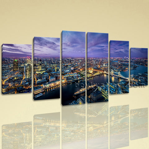 Extra Large London Skyline Wall Decor Contemporary Art Dining Room Print